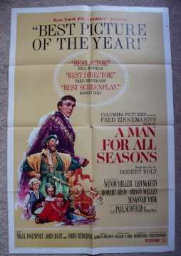 A Man For All Seasons Film Poster Style B One Sheet